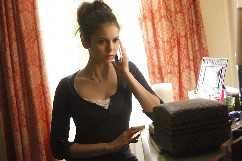 Nina Dobrev as Elena on The Vampire Diaries.