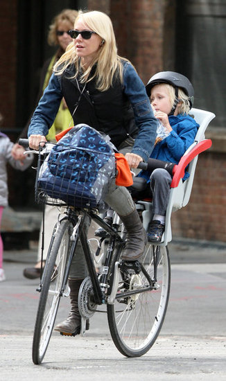 Naomi Watts Cycles Around the City With Sasha