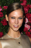 Karlie Kloss gave a smile at the Chanel dinner party at the 2012 Tribeca Film Festival.