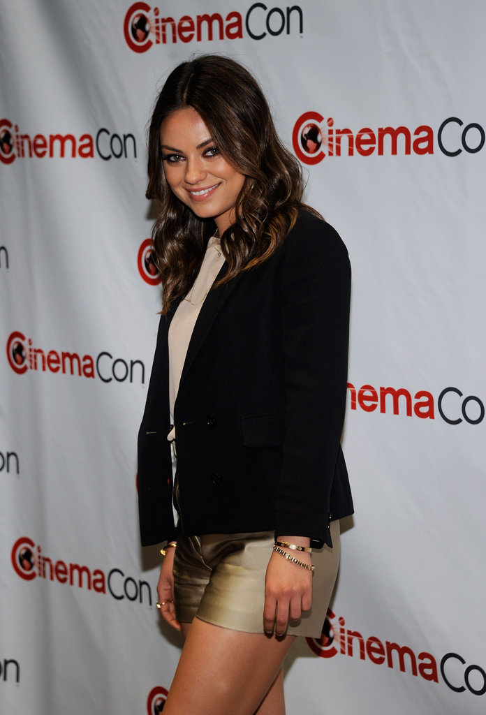Mila Kunis smiled for the camera at CinemaCon.