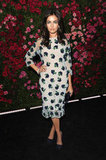 Camilla Belle wore a floral-print dress to the Chanel dinner party at the 2012 Tribeca Film Festival.