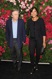 Robert De Niro and his wife Grace Hightower posed at the Chanel dinner party at the 2012 Tribeca Film Festival.