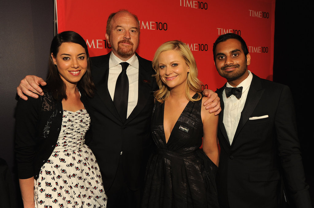 Aubrey Plaza, Louis CK, Amy Poehler, and Aziz Ansari got together at the Time 100 gala in NYC.