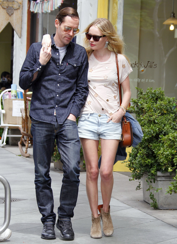 Kate Bosworth and Michael Polish strolled through LA after grabbing lunch.