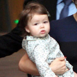 Harper Beckham wore a tiny, floral dress.