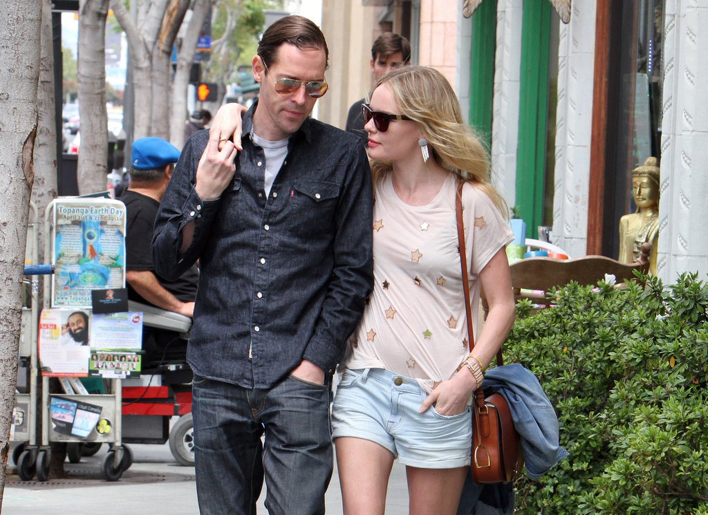 Kate Bosworth and Michael Polish walked hand in hand in LA.