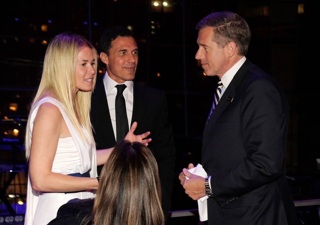 Chelsea Handler chatted with Brian Williams at the Time 100 gala in NYC.
