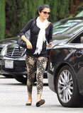 Selena Gomez left the restaurant and headed to her car after she enjoyed lunch with her mom in LA.
