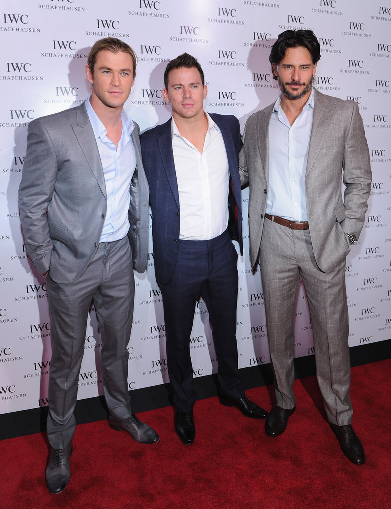 Channing Tatum, Joe Manganiello, and Chris Hemsworth made a hot trio.