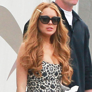 Lindsay Lohan Smoking on the Set of Glee in LA Pictures
