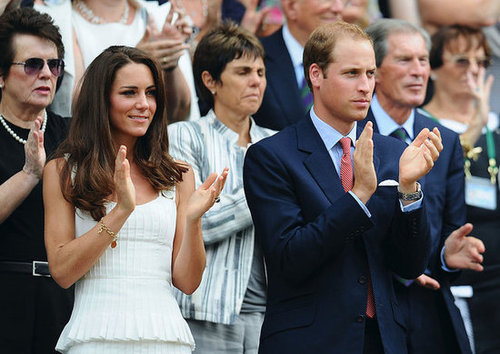 Kate wore a Temperley London sundress to sit courtside with Prince William at Wimbledon in June 2011.