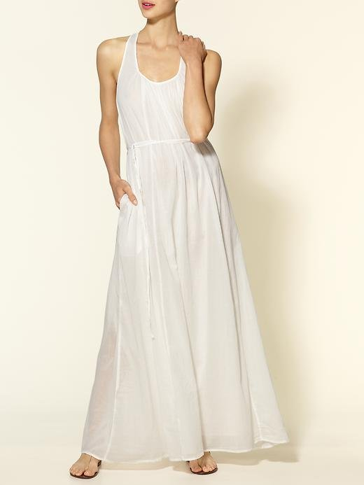 All the appeal of a gorgeous white dress in the easiest, most accessible silhouette — just add flat sandals and go.  Michael Stars Zoe Tank Racerback Maxi Dress ($198)