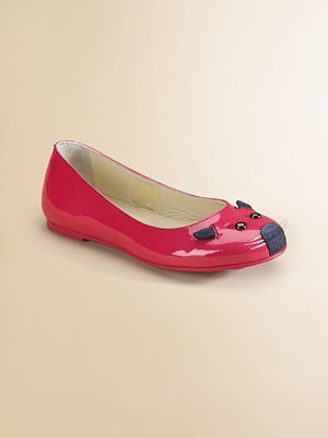Little Marc Jacobs Patent Leather Mouse Marie Ballet Flats ($138-162)