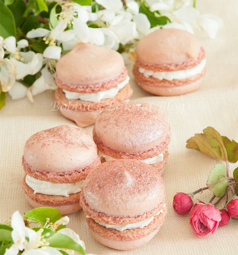 What&#039;s for Dessert, Cherry Blossom Biscuits, Macarons