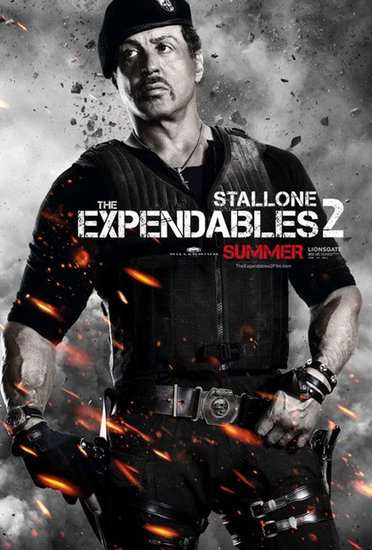 Sylvester Stallone as Barney Ross in The Expendables 2.