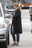 Drew Barrymore, who is reportedly a mom-to-be, walked to her car in LA.