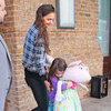 Katie Holmes and Suri Cruise Leave NYC Apartment Pictures