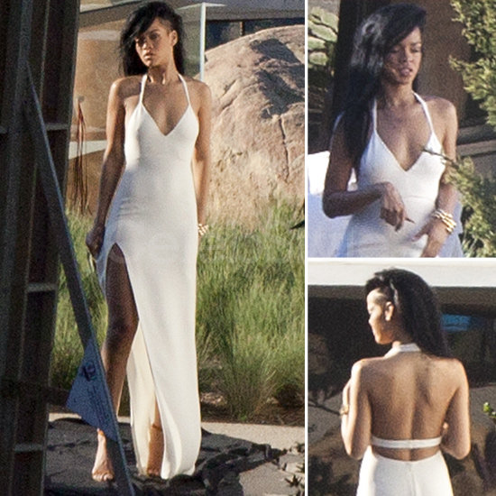 Shop six sultry white dresses like Rihanna's for your wedding.