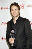 Taylor Kitsch was on hand to accept the male star of tomorrow award at the CinemaCon awards ceremony.