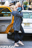 Emma Stone carried a friend's son to breakfast in NYC.