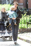 Andrew Garfield and Emma Stone went to breakfast with friends and their son in NYC.