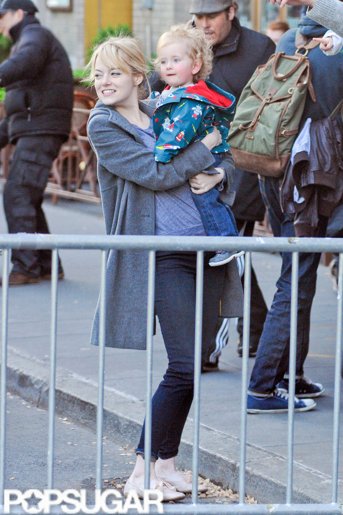 Emma Stone and Andrew Garfield took a friend's son with them in a taxi on the way to breakfast in NYC.
