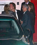 George Clooney and Stacy Keibler had dinner with good friends Cindy Crawford and Rande Gerber in LA.