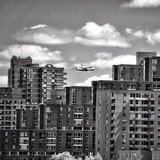 Space shuttle Enterprise over New York City.  Source: Instagram User kathersk