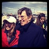 Naturally, Leonard Nimoy is on hand to celebrate the space shuttle Enterprise's final voyage.  Source: Instagram User mirrorpete