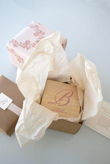 Wooden Baby Block Invitation