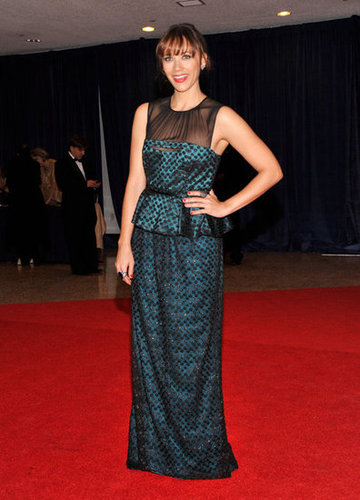 Rashida Jones posed on the carpet at the White House Correspondant's Dinner.