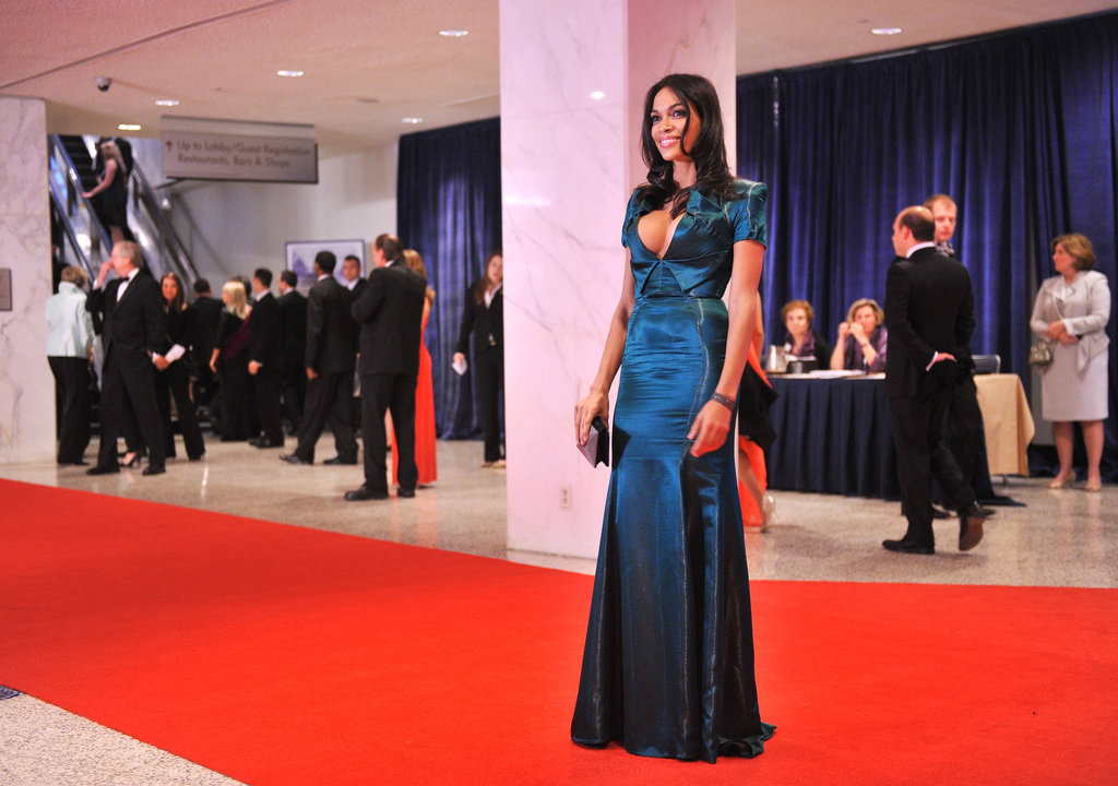 Rosario Dawson posed on the red carpet.