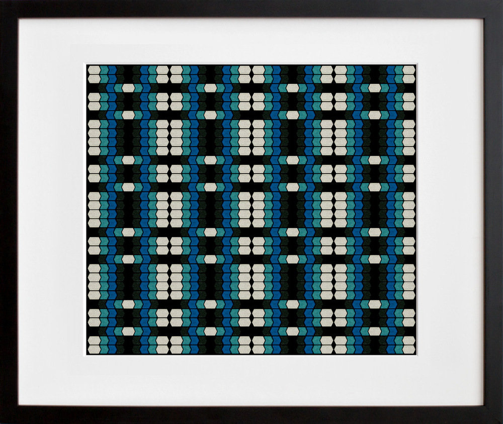 "The print ""Eye Shadow Overlap No. 3,"" from the series Perceptual Beauty ($24 and up) from Michelle Marie Murphy was inspired by op art and third-wave feminism."