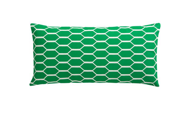 The Coup Clover Pillow ($20) is made from cotton and comes in a fresh grass-green hue.
