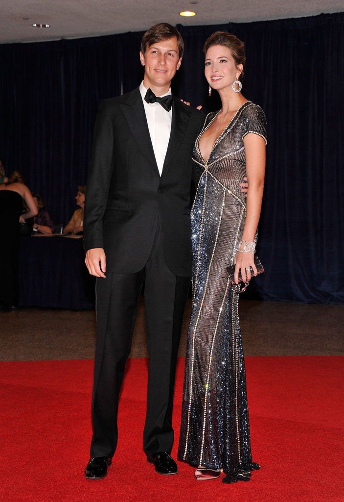 Ivanka Trump and Jared Kushner made their way in to the 98th annual White House Correspondents' Dinner.