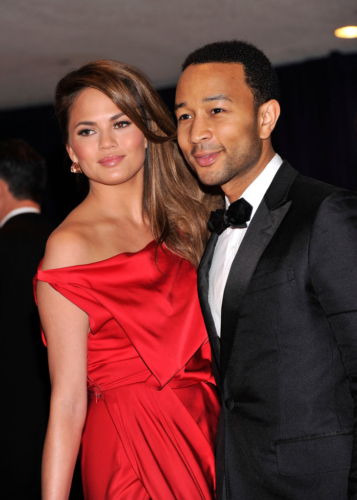 Chrissy Teigen and John Legend glammed it up.