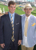 In 2004, Eli Manning and Carson Daly suited up to watch the races.