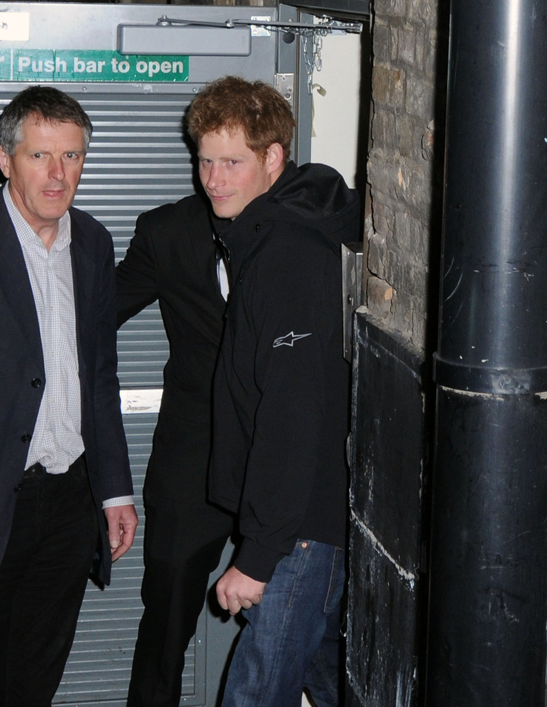 Prince Harry snuck out of the Arts Club.