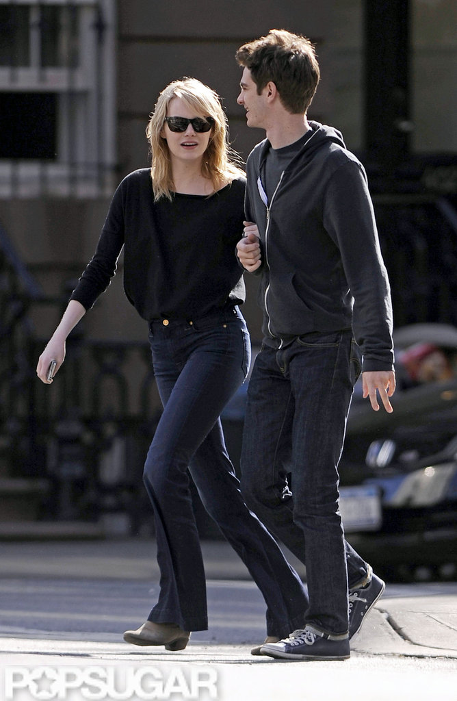 Emma Stone and Andrew Garfield spent time together while taking a walk in NYC.