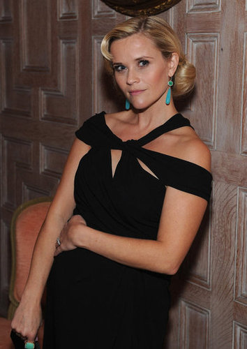 Reese Witherspoon was stunning in an off-the-shoulders black gown.