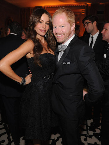 Sofia Vergara and Jesse Tyler Ferguson posed together.