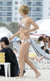 Chloë Sevigny wore a bikini on the beach in Miami.