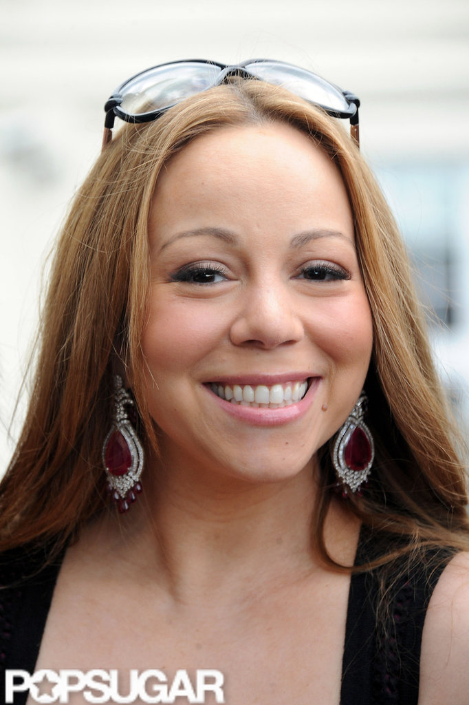 Mariah Carey was all smiles while in Paris after celebrating her 4th wedding anniversary.