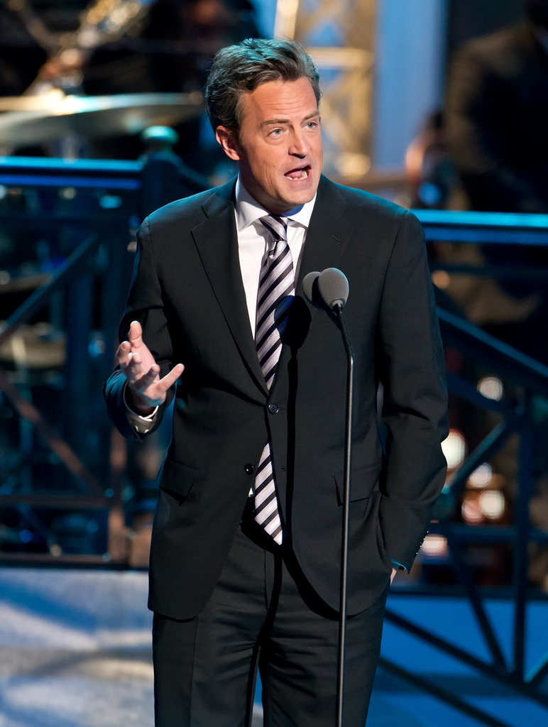 Matthew Perry presented an award on stage at the Comedy Awards in NYC.