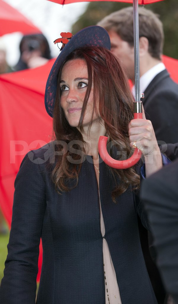 Pippa Middleton arrived at Hannah Gillingham and Robert Carter's wedding in England in Project D.
