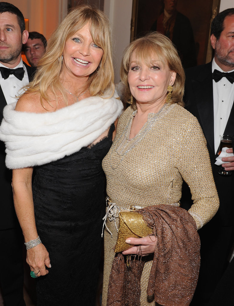 Goldie Hawn and Barbara Walters posed together at the White House Correspondant's Dinner.