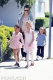 Jennifer Garner was accompanied by Seraphina Affleck to get older sister Violet Affleck from ballet class with a friend in LA.