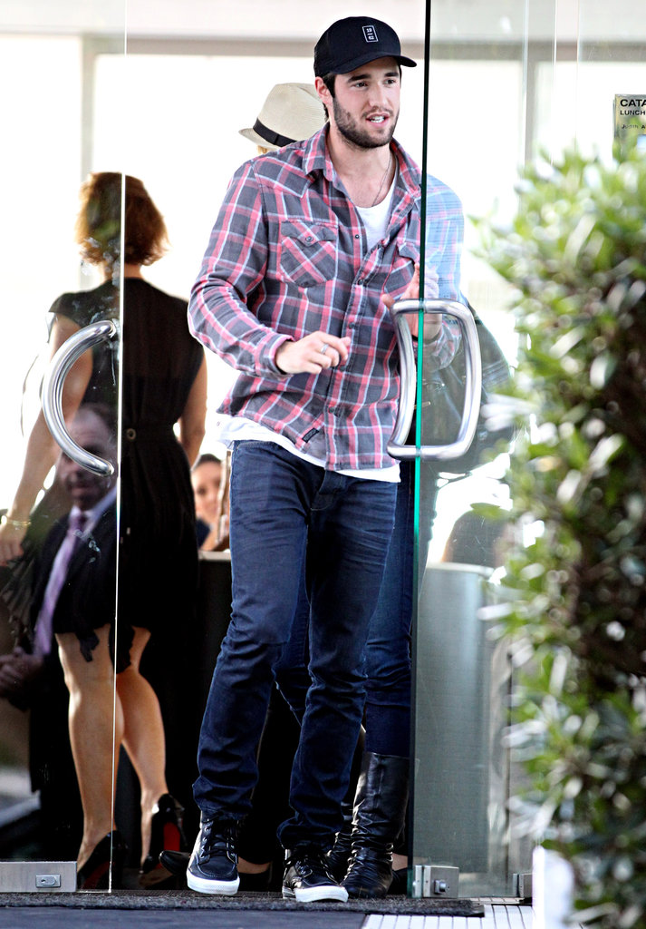 Joshua Bowman wore a plaid shirt.
