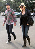 Joshua Bowman and Emily VanCamp checked out a rugby match in Sydney.