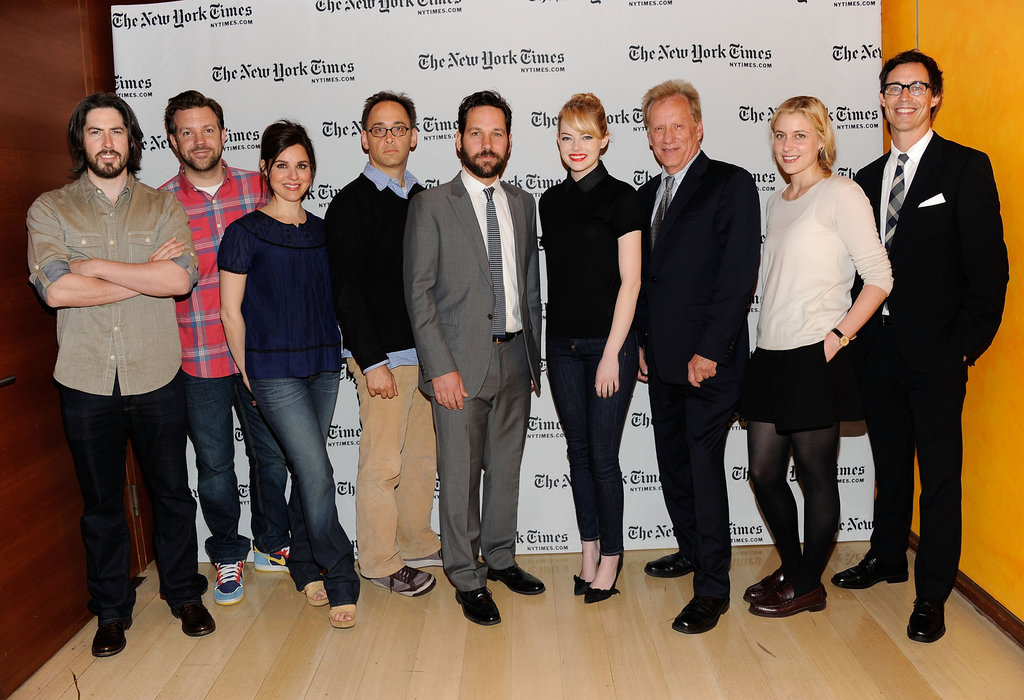 Emma Stone joined in a live read of The Apartment with Jason Reitman, Jason Sudeikis, Cara Buono, David Wain, Paul Rudd, James Woods, Greta Gerwig and Tom Cavanagh.